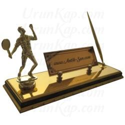 Tenis Figürlü Masa İsimliği